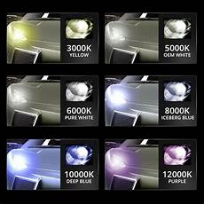 6000k Light Color 6000k Hid Kit Xenon Conversion Ballasts Amp Bulbs Crystal