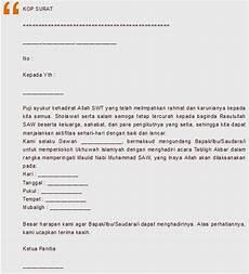 contoh surat undangan acara peringatan maulid nabi