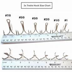 Trout Treble Hook Size Chart 50pcs Fishing 3x Strong Treble Nickel Hook Size From 1 0 2