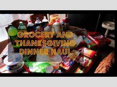 Grocery & Thanksgiving Dinner Haul   YouTube