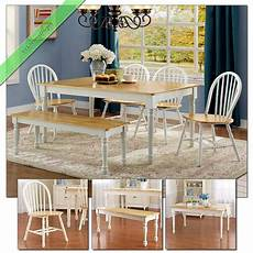country dining room sets 6pc farmhouse dining room sets table bench chairs wood