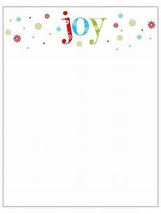 Microsoft Word Christmas Letter Template Printable Christmas Stationery To Use For The Holidays