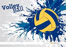 Cool Volleyball Designs Volleyball Grunge Paint Design Vector Download