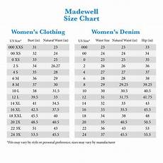Madewell Size Chart Madewell Curvy Jeans Size Chart Best Picture Of Chart