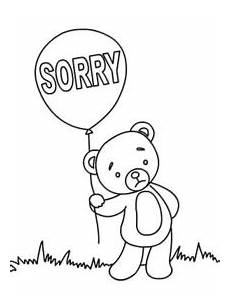 Apology Coloring Pages Free Printable Sorry Cards Create And Print Free