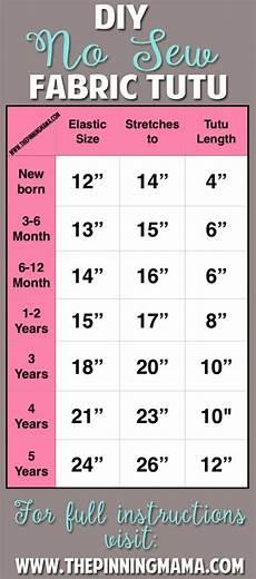 Tutu Dress Size Chart No Sew Tutu Size Chart Fabric Tutu Diy Tutu