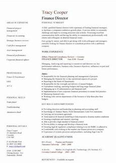 Finance Assistant Cv Financial Cv Template Business Administration Cv