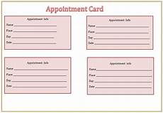 Appointment Cards Template Appointment Card Template Microsoft Word Templates