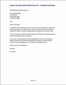 Resume Follow Up Letters Follow Up Letter After Submitting A Cv Http