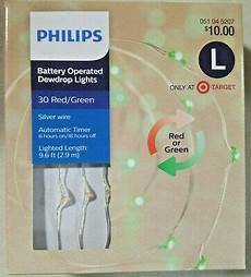 Philips 30ct Christmas Battery Operated Led Dewdrop Fairy String Lights New Philips 30ct Christmas Battery Operated Led Dewdrop