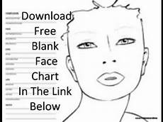 Brown Face Chart Blank Free Blank Face Chart Youtube