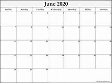 June 2020 Blank Printable Calendar June 2020 Blank Calendar Templates