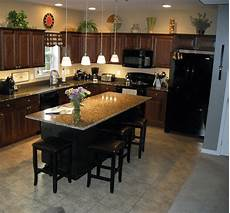 granite islands kitchen how to get an ideal kitchen island overhang