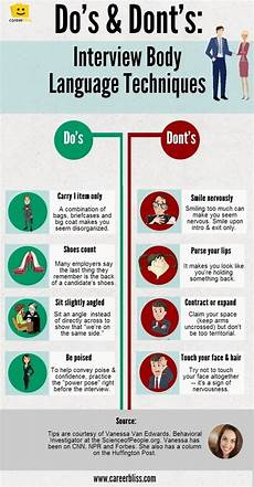 Best Interviewing Tips Body Language Tips For Job Interviews Infographic