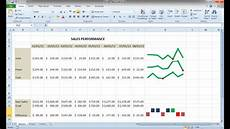 Sparklines Excel How To Create Sparklines Win Loss Charts In Excel 2010