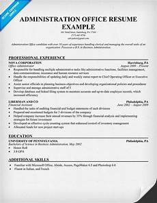 Resume Format For Admin Officer Administration Office Resume Resumecompanion Com