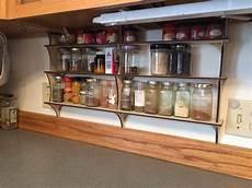 diy laser cut cabinet shelves spice rack tea shelf