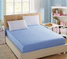 100 cotton solid fitted bed sheet elastic mattress cover