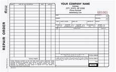 Work Order Forms For Mechanics 3 Part Auto Repair Order Forms