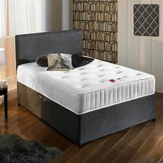 163 199 99 sleep factory charcoal grey luxury suede divan