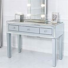 grey glass and mirrored trim clear top 3 drawer