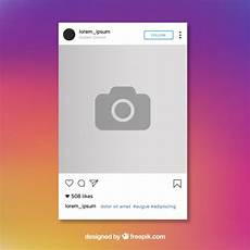 Instagram Photo Template Free Vector Instagram Post Template