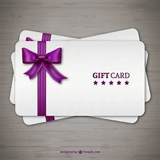 Gift Card Download Gift Cards With Purple Ribbon Vector Free Download