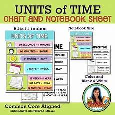 Md Dnr Tide Chart Units Of Time Charts Ccss 4 Md A 1 By Ms Med Designs Tpt
