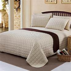 home textile 100 cotton luxury quilted bedspread bed