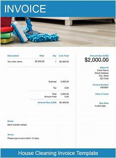 House Cleaning Invoice Example House Cleaning Invoice Template Free Download Send In