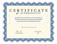 Make A Certificate Of Authenticity Certificate Of Authenticity Stories