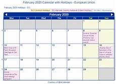 february 2020 calendar events print friendly february 2020 eu calendar for printing