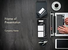 Office Com Powerpoint Themes Manager Is Working At Office Desk Powerpoint Template