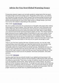 Causes And Effects Of Global Warming Essay Advice For You Next Global Warming Essays