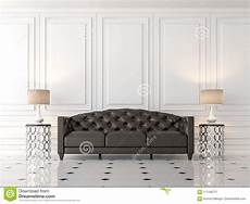 Modern Leather Sofa 3d Image by Modern Classic Living Room With Black Leather Sofa 3d