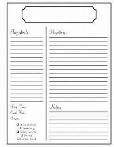 recipe card template for pages home printable recipe cards recipe book templates