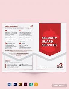 Security Guard Template Security Guard Services Bi Fold Brochure Template Word