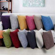 Sofa Pillows Solid 3d Image by 45x45cm Sofa Solid Color Cushion Cover Yellow Grey Cotton