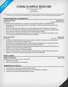 Example Of Cook Resume Cook Resume Resume Samples Across All Industries