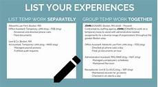 Temp Resume How To Properly List Temporary Work On Your Resume