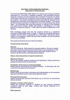 Thesis Proposal Template Word Doctoral Thesis Proposal Template Pdf Format E