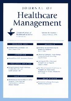 What Is Healthcare Management Journal Of Healthcare Management Wikipedia