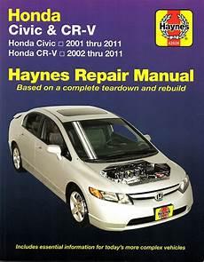 Honda Civic Cr V Repair Manual 2001 2011 Haynes 42026