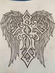 Drawing Of Angel Wings Pin On Cross Tattoos