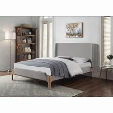 pascale king upholstered bed light grey