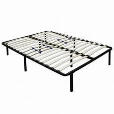 metal platform bed frame wood slats size king