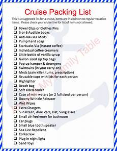 Printable Packing List For Cruise Packing Tips For A Cruise Around My Family Table