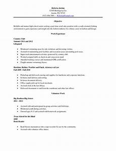 College Resume Examples For High School Seniors Sample High School Senior Resume Resume Sample High