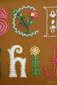 alphabet embroidery sler
