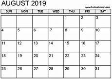 Printable Calendar August August 2019 Calendar Printable